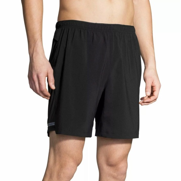 """Brooks Other - Brooks Mens Sherpa 7"""" 2-in-1 Black Running Shorts"""